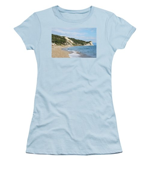 Women's T-Shirt (Junior Cut) featuring the photograph By The Beach by George Katechis