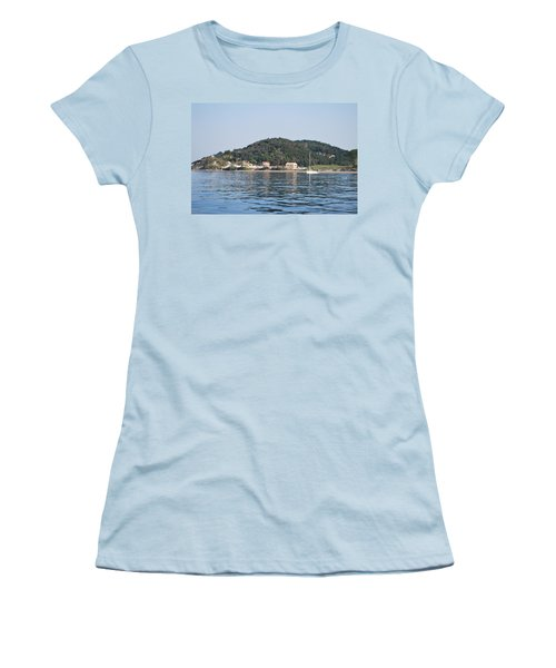 Women's T-Shirt (Junior Cut) featuring the photograph By The Sea by George Katechis
