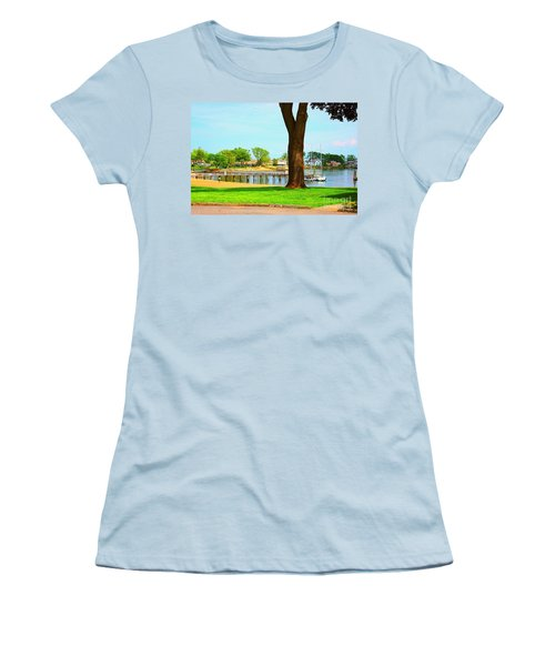 Women's T-Shirt (Junior Cut) featuring the photograph By The Sea by Judy Palkimas
