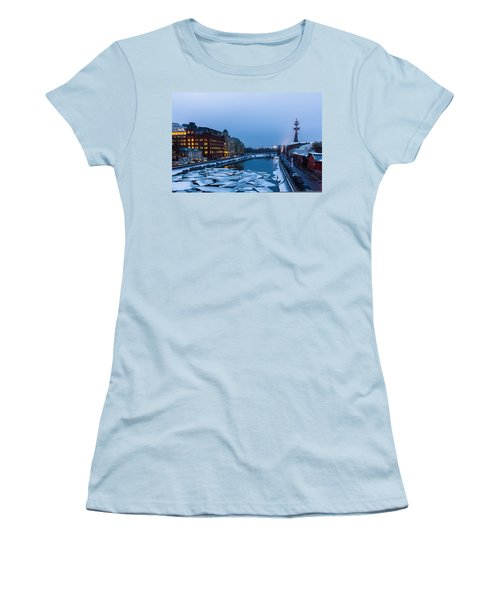 Bypass Canal Of Moscow River - Featured 3 Women's T-Shirt (Junior Cut) by Alexander Senin