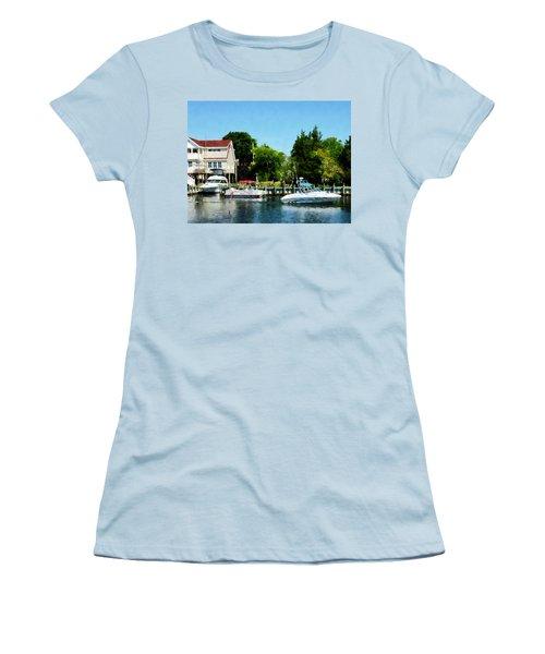 Women's T-Shirt (Junior Cut) featuring the photograph Cabin Cruisers by Susan Savad