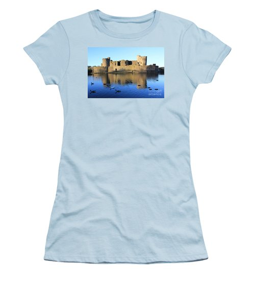 Caerphilly Castle Women's T-Shirt (Junior Cut) by Vicki Spindler