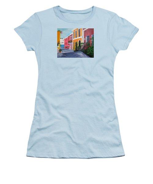 Callejon En El Viejo San Juan Women's T-Shirt (Junior Cut) by Luis F Rodriguez