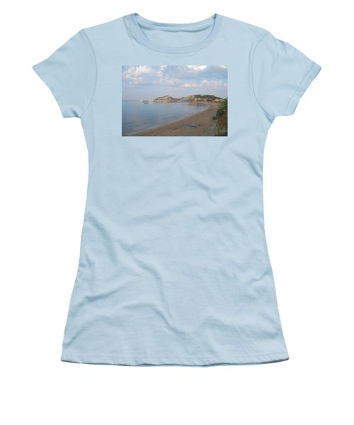 Women's T-Shirt (Junior Cut) featuring the photograph Calm Sea by George Katechis