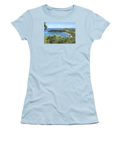 Caneel Bay Women's T-Shirt (Junior Cut) by Carol  Bradley