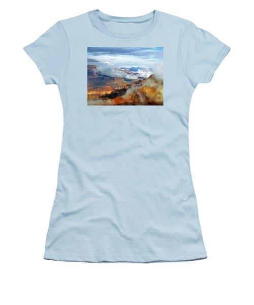Women's T-Shirt (Junior Cut) featuring the photograph Canyon Clouds by Alan Socolik