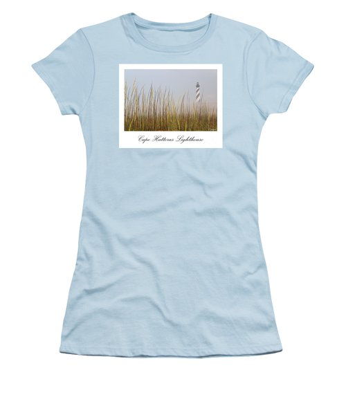 Cape Hatteras Lighthouse In The Fog Women's T-Shirt (Junior Cut) by Tony Cooper