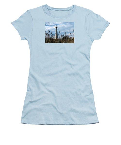 Cape May Light Women's T-Shirt (Junior Cut) by Skip Willits
