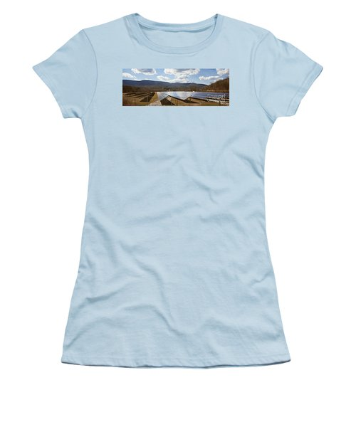 Women's T-Shirt (Junior Cut) featuring the photograph Catching Rays  by Carol Lynn Coronios