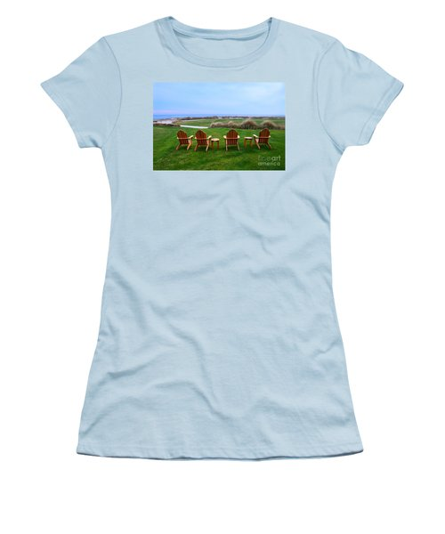 Chairs At The Eighteenth Hole Women's T-Shirt (Junior Cut) by Catherine Sherman