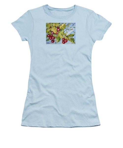 Cherry Breeze Women's T-Shirt (Junior Cut) by Kathleen Pio