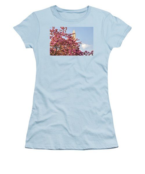 Cherry Trees And Washington Monument One Women's T-Shirt (Junior Cut) by Mitchell R Grosky