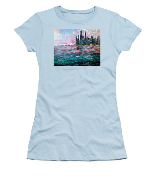 Chicago Morning - Sold Women's T-Shirt (Junior Cut) by George Riney
