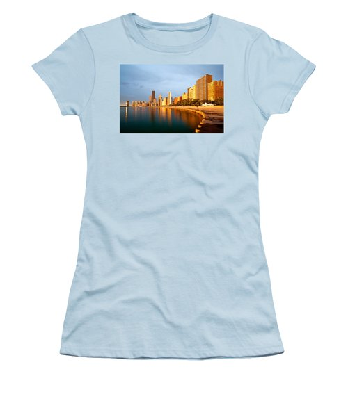 Chicago Skyline Women's T-Shirt (Junior Cut) by Sebastian Musial