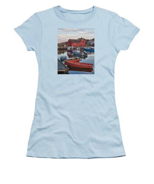 Christmas At Motif1 Rockport Massachusetts Women's T-Shirt (Athletic Fit)
