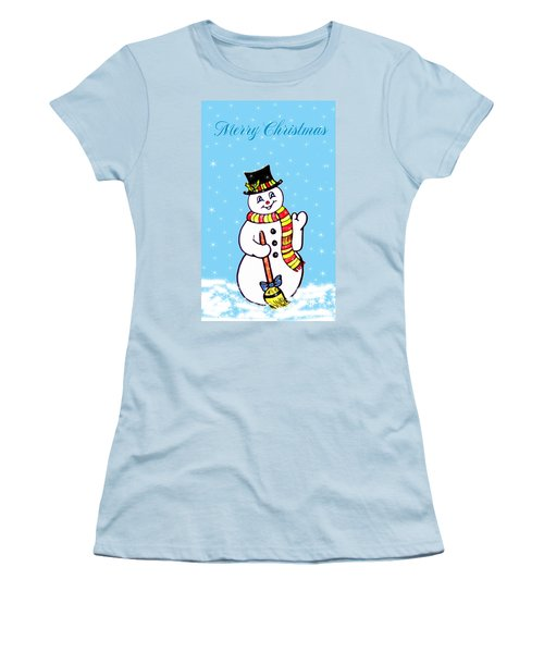 Christmas Snowman Women's T-Shirt (Athletic Fit)