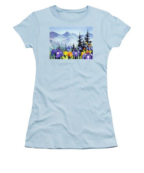 Women's T-Shirt (Junior Cut) featuring the painting Chugach Summer by Teresa Ascone