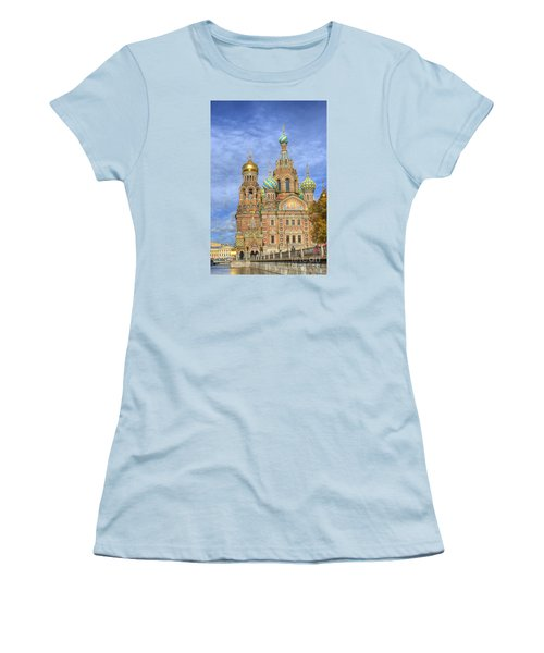 Church Of The Saviour On Spilled Blood. St. Petersburg. Russia Women's T-Shirt (Junior Cut) by Juli Scalzi