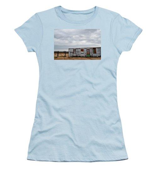 Cima Union Pacific Railroad Station Women's T-Shirt (Junior Cut) by Kyle Hanson