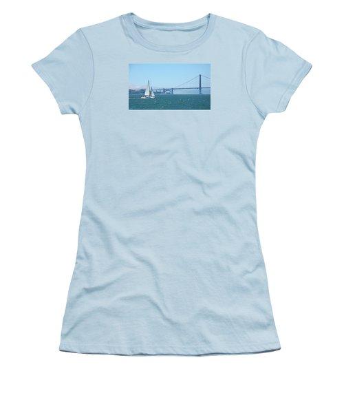 Classic San Francisco Bay Women's T-Shirt (Junior Cut) by Connie Fox