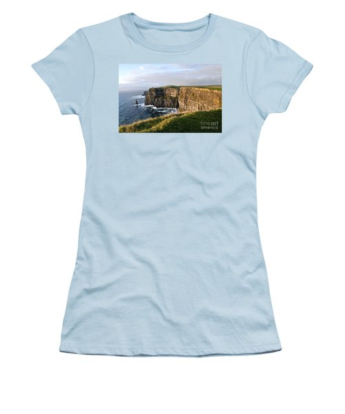 Cliffs Of Moher Evening Light Women's T-Shirt (Athletic Fit)