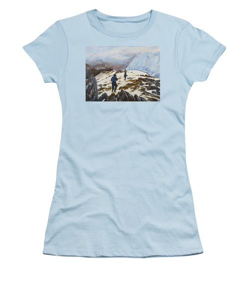 Climbers - Painting Women's T-Shirt (Athletic Fit)