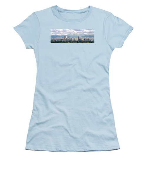 Clouds Over Skyline And Mountains Women's T-Shirt (Athletic Fit)