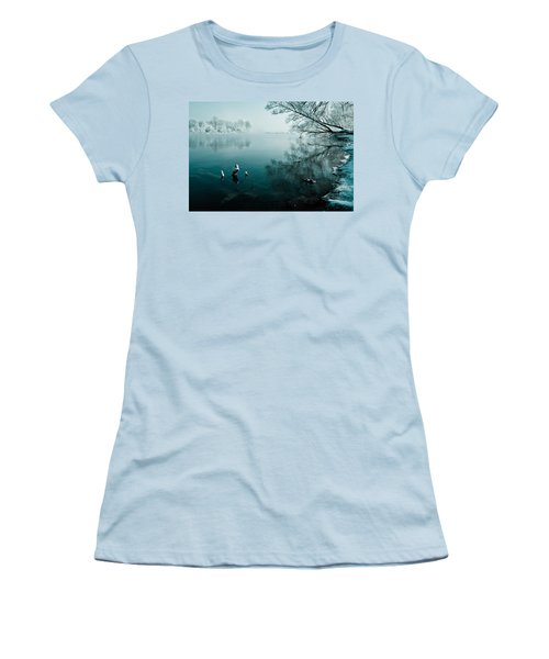 Color Of Ice Women's T-Shirt (Junior Cut) by Davorin Mance