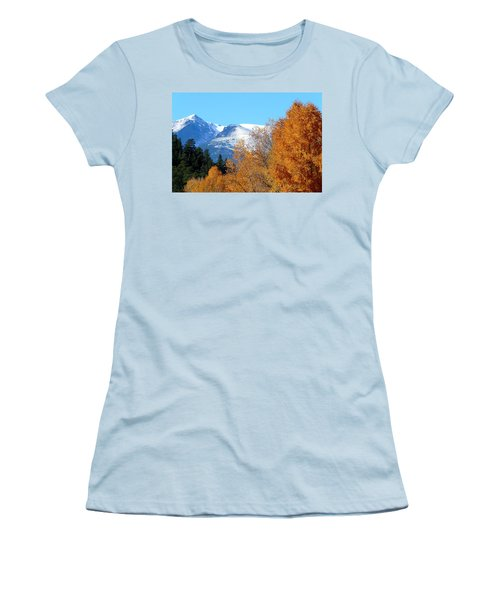 Colorado Mountains In Autumn Women's T-Shirt (Athletic Fit)