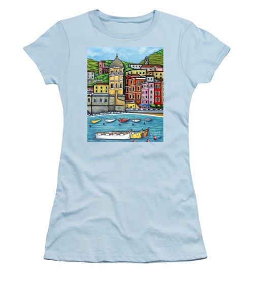 Colours Of Vernazza Women's T-Shirt (Athletic Fit)