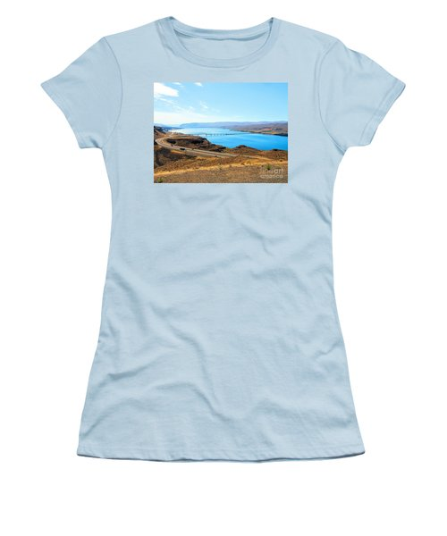 Columbia River From Overlook Women's T-Shirt (Junior Cut) by Janette Boyd