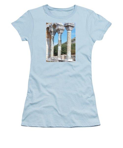 Columns Women's T-Shirt (Junior Cut) by Marilyn Zalatan