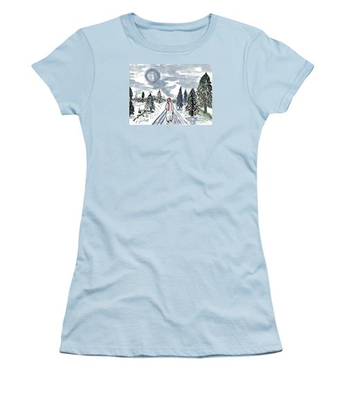 Coming Home Women's T-Shirt (Junior Cut) by Connie Valasco