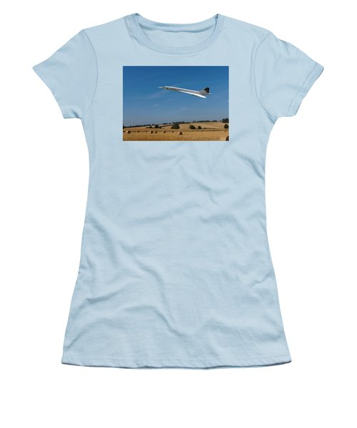 Concorde At Harvest Time Women's T-Shirt (Junior Cut) by Paul Gulliver