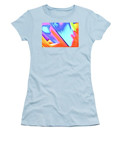Women's T-Shirt (Junior Cut) featuring the photograph Consuming The Grid by Xn Tyler