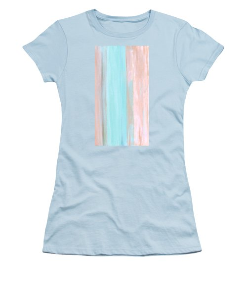 Women's T-Shirt (Junior Cut) featuring the painting Cool Jade by Stephanie Grant