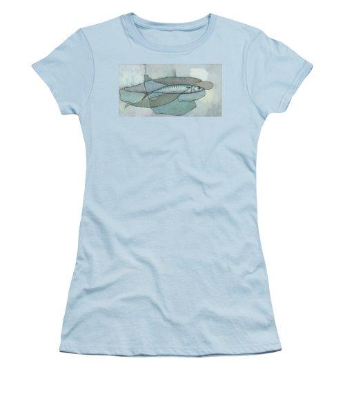 Cornish Mackerel Women's T-Shirt (Junior Cut) by Steve Mitchell