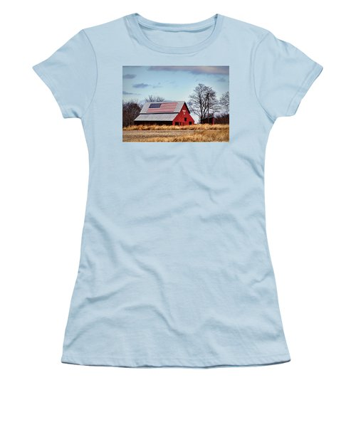 Country Pride Women's T-Shirt (Junior Cut) by Cricket Hackmann