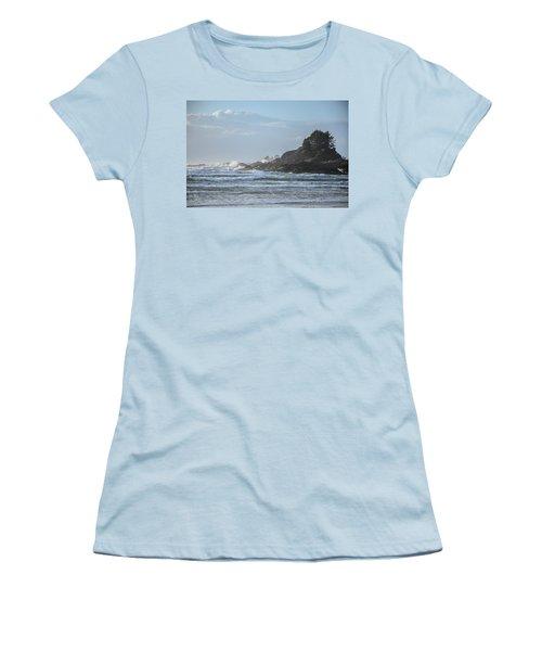 Cox Bay Afternoon Waves Women's T-Shirt (Junior Cut) by Roxy Hurtubise