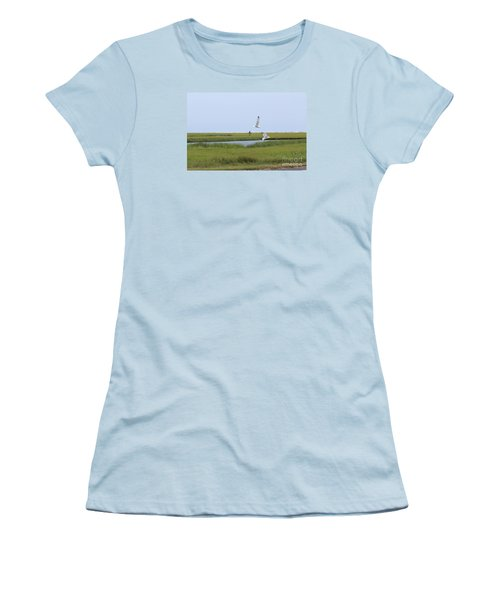 Women's T-Shirt (Junior Cut) featuring the photograph Crabber by David Jackson