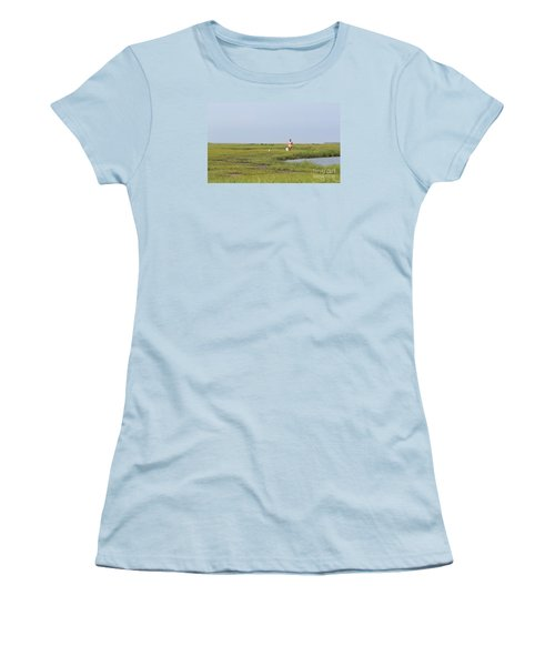 Women's T-Shirt (Junior Cut) featuring the photograph Crabbing At Mystic Island by David Jackson