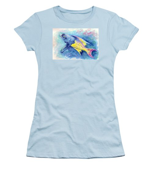 Creole Wrasse Women's T-Shirt (Junior Cut) by Ashley Kujan