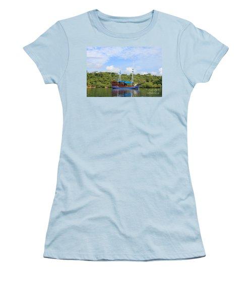 Cruising Yacht Women's T-Shirt (Junior Cut) by Sergey Lukashin