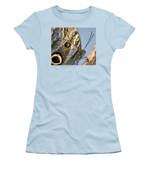 Curve Of A Butterfly Women's T-Shirt (Junior Cut) by Sonya Lang