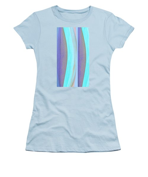 Women's T-Shirt (Junior Cut) featuring the painting Curves2 by Stephanie Grant
