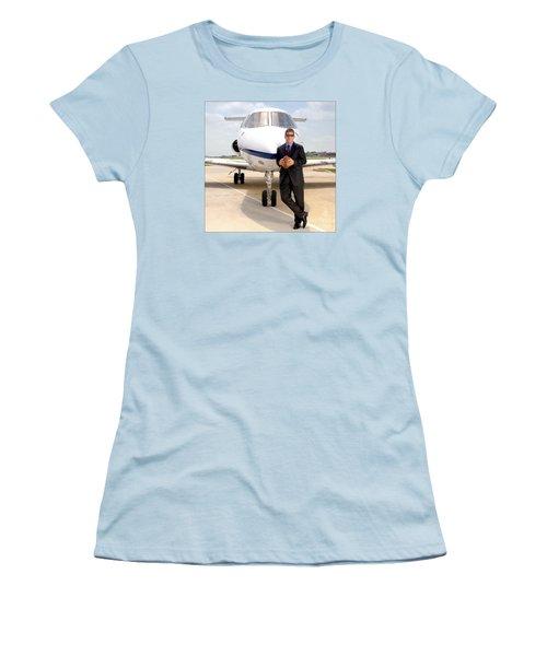 Dallas Cowboys Superbowl Quarterback Troy Aikman Women's T-Shirt (Athletic Fit)