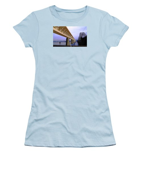 Darnitsky Bridge Women's T-Shirt (Junior Cut) by Oleg Zavarzin