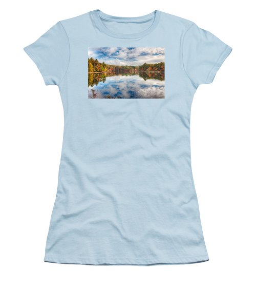 Dawn Reflection Of Fall Colors Women's T-Shirt (Athletic Fit)