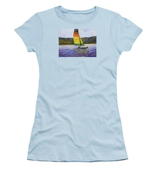 Day At The Lake Women's T-Shirt (Athletic Fit)