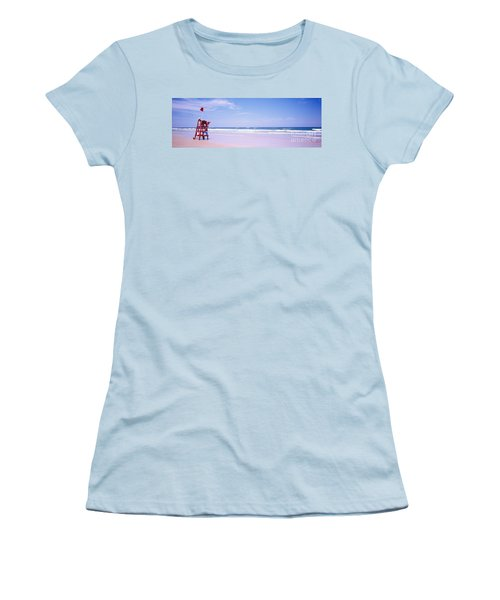 Daytona Beach Fl Life Guard  Women's T-Shirt (Athletic Fit)